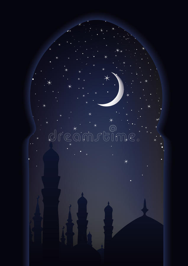 阿拉伯梦想晚上s 向量例证