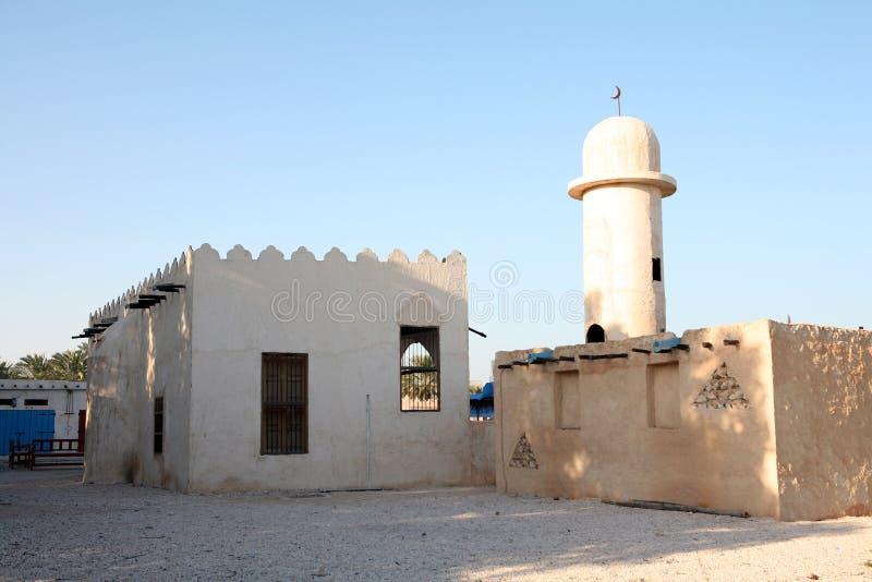 阿拉伯清真寺村庄 免版税图库摄影