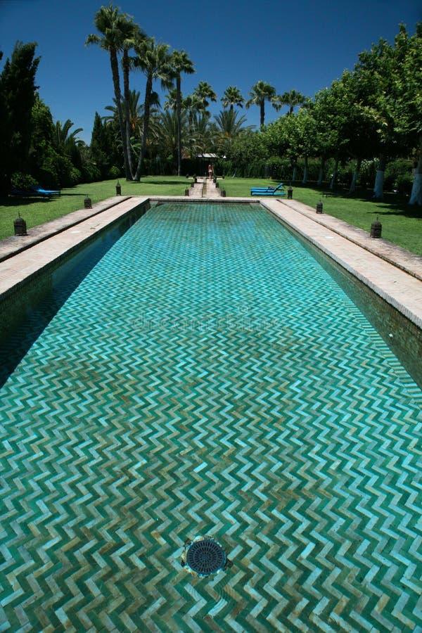 阿拉伯游泳池 免版税图库摄影