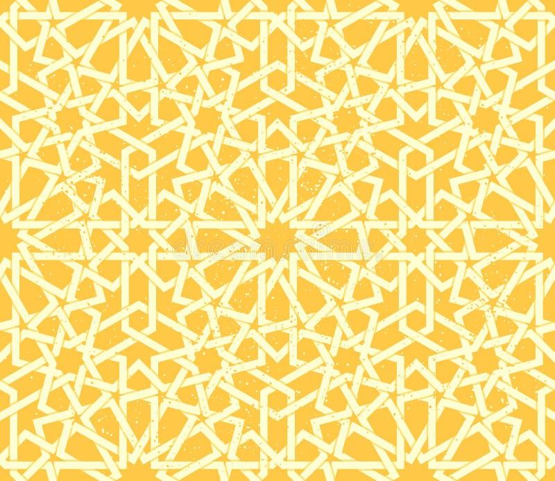 阿拉伯玫瑰华饰无缝的样式 向量例证