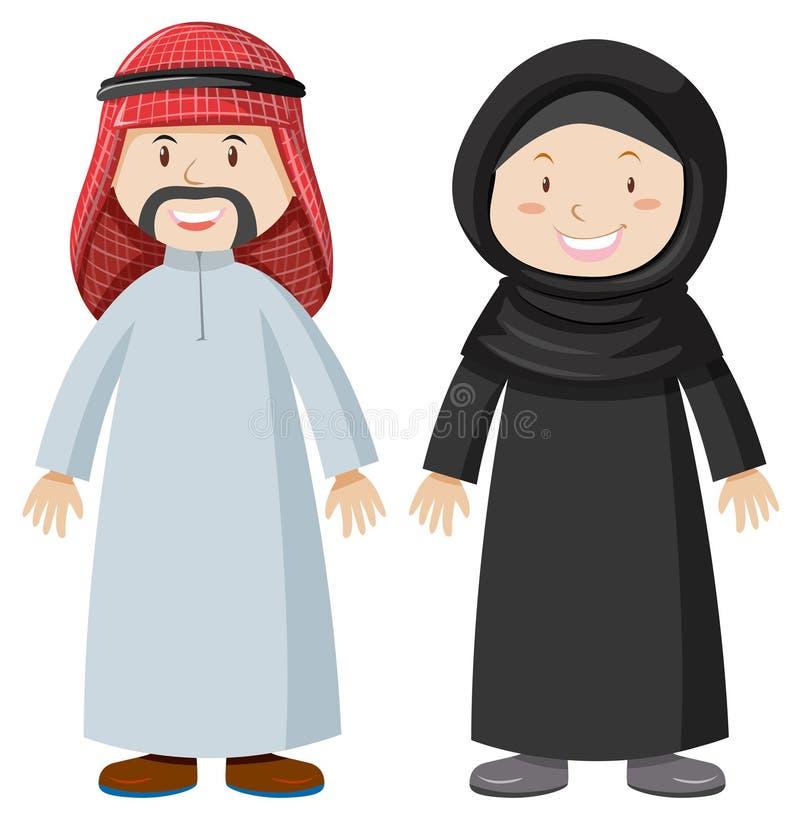 阿拉伯男人和妇女 皇族释放例证