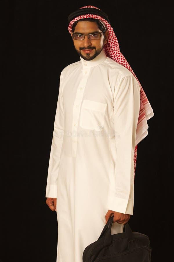 阿拉伯男性记录 库存照片