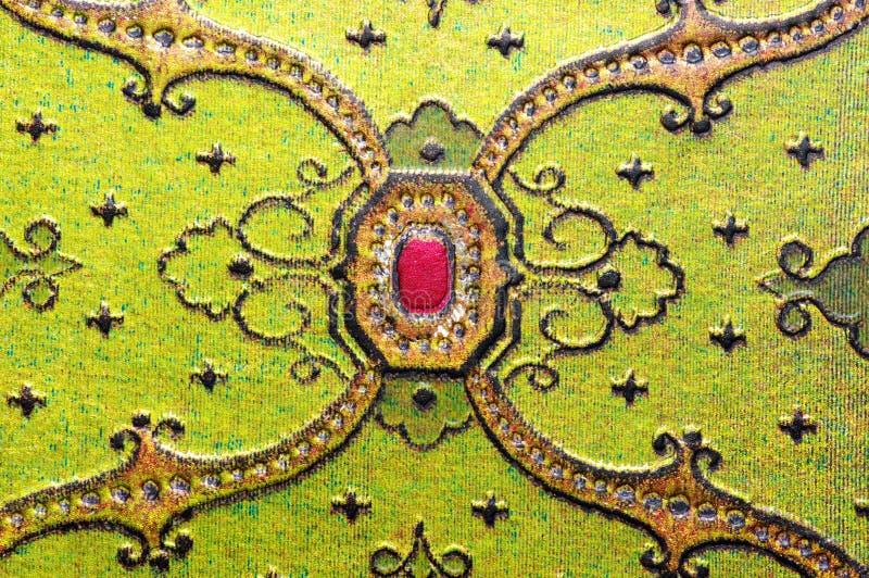 阿拉伯绿色装饰品 库存图片