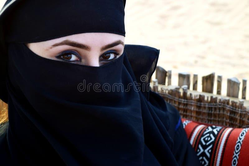 阿拉伯美丽的妇女 库存图片