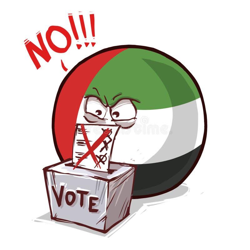 阿拉伯联合酋长国投反对票国家的球 皇族释放例证