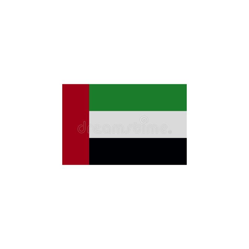 阿拉伯联合酋长国的旗子上色了象 r E 库存例证