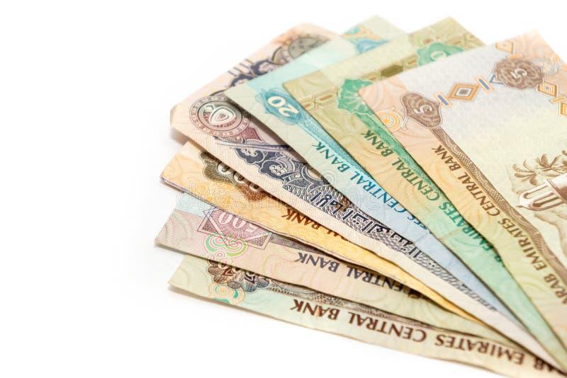 阿拉伯联合酋长国的现钞和硬币 免版税库存照片