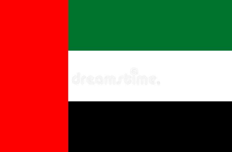 阿拉伯联合酋长国的旗子 库存例证