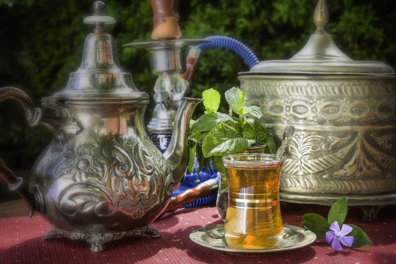 阿拉伯薄荷的茶 免版税库存照片