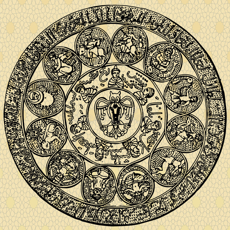 阿拉伯行星符号 向量例证