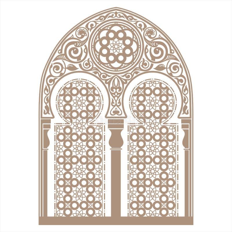 阿拉伯装饰品 向量例证