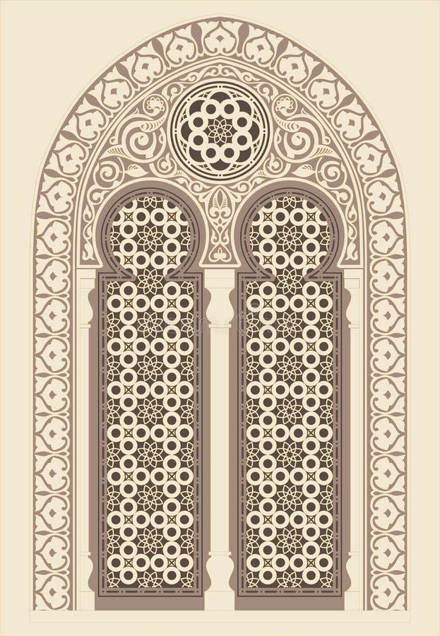 阿拉伯装饰品 库存例证