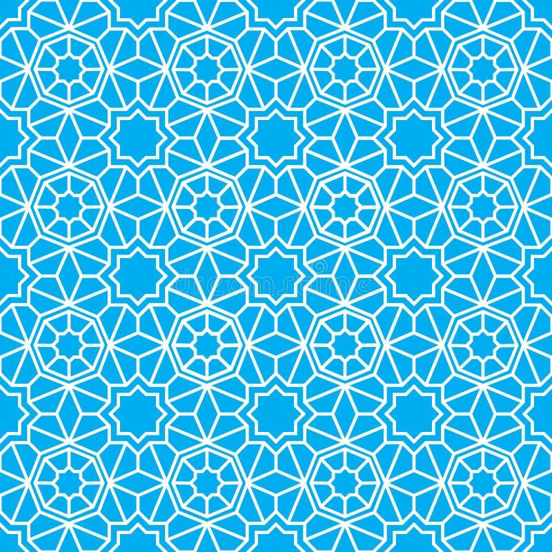 阿拉伯装饰无缝的样式 r 库存例证
