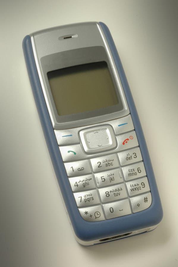 阿拉伯语按电池移动电话 免版税库存照片