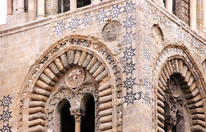 阿拉伯诺曼底建筑学,从巴勒莫 库存图片
