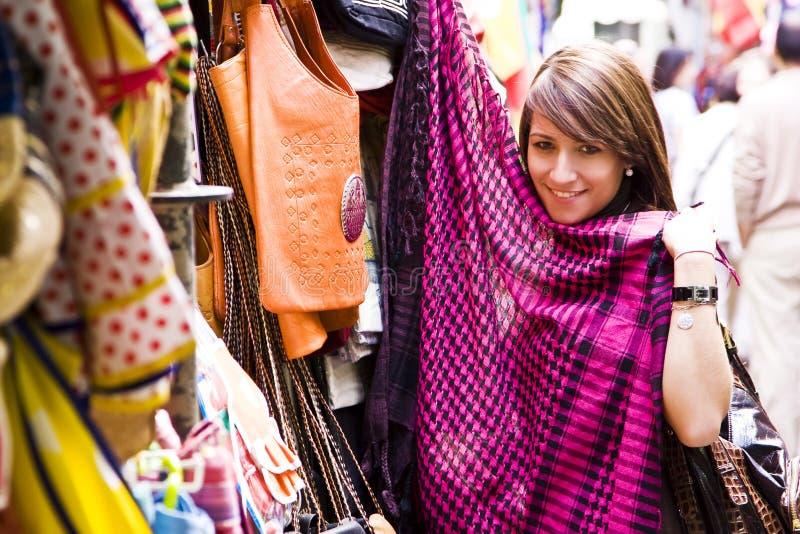 阿拉伯货物购物 库存照片