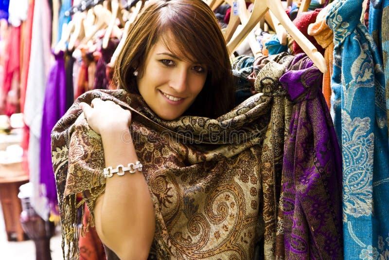 阿拉伯货物购物 免版税库存图片