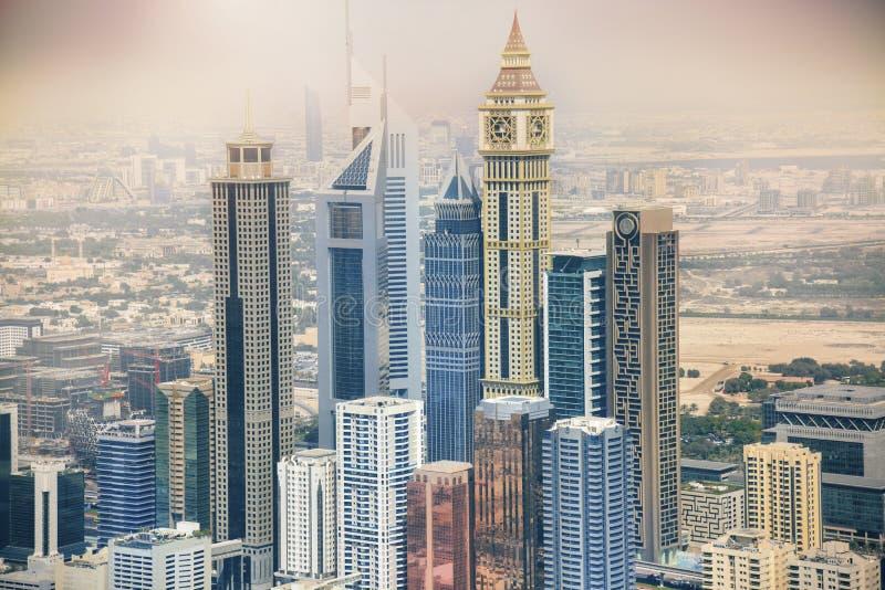 阿拉伯迪拜酋长管辖区摩天大楼团结&# 免版税图库摄影