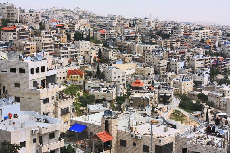 阿拉伯邻里在耶路撒冷 免版税库存图片