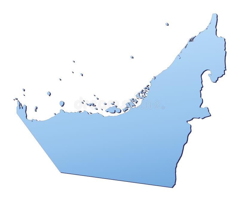 阿拉伯酋长管辖区映射团结 皇族释放例证