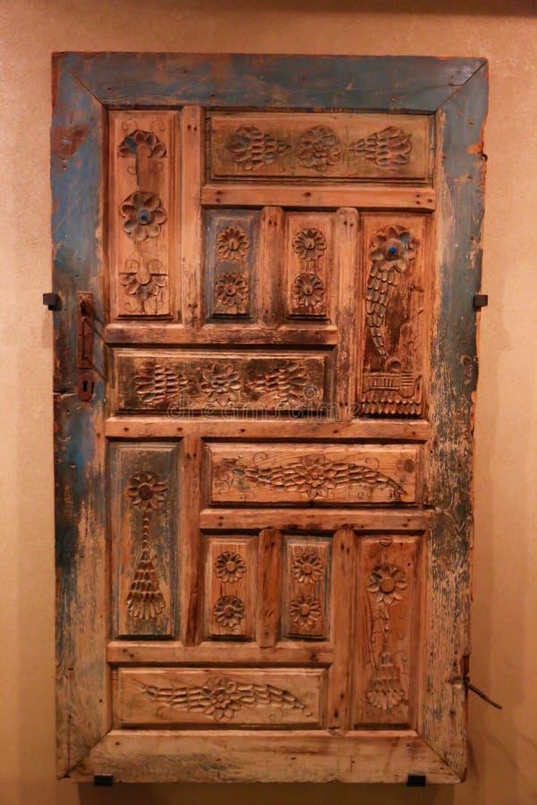 阿拉伯门古老古董-沙扎博物馆 库存图片