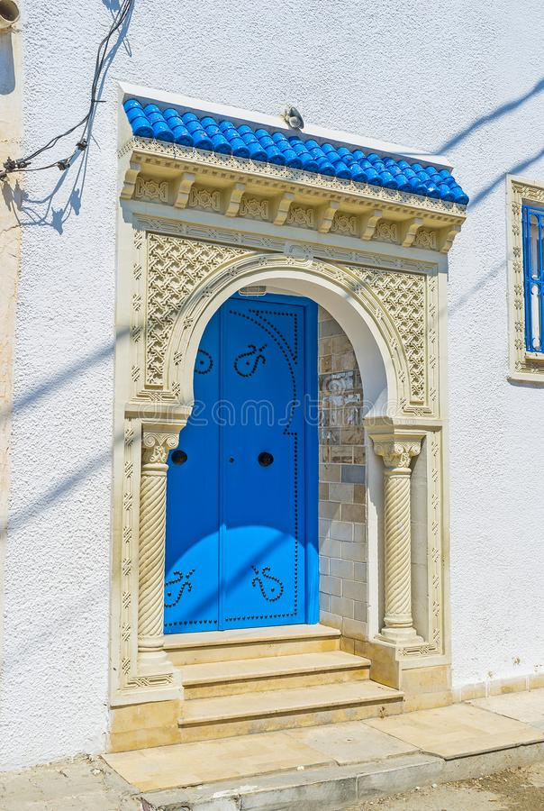 阿拉伯门在Monastir 免版税库存照片