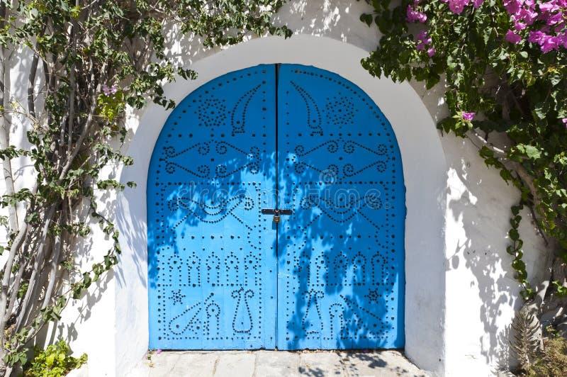 阿拉伯门样式 库存照片