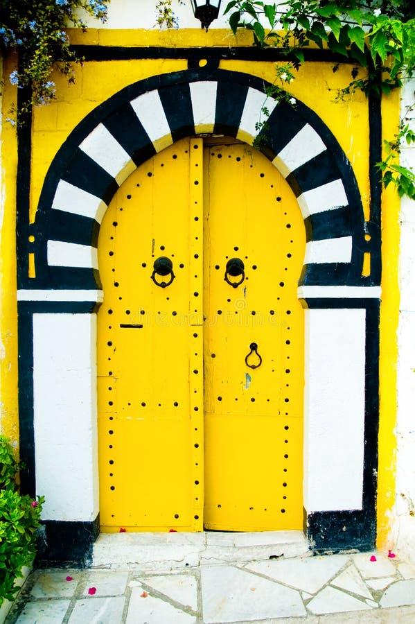 阿拉伯门黄色 库存照片