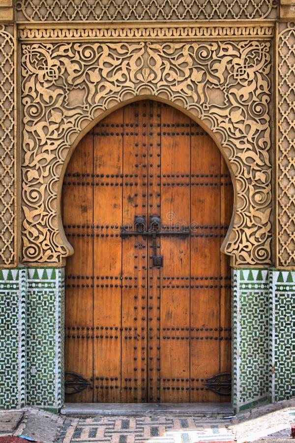 阿拉伯门 免版税库存图片