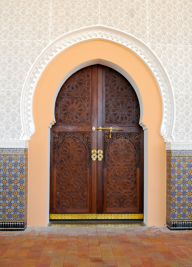 阿拉伯门 库存照片