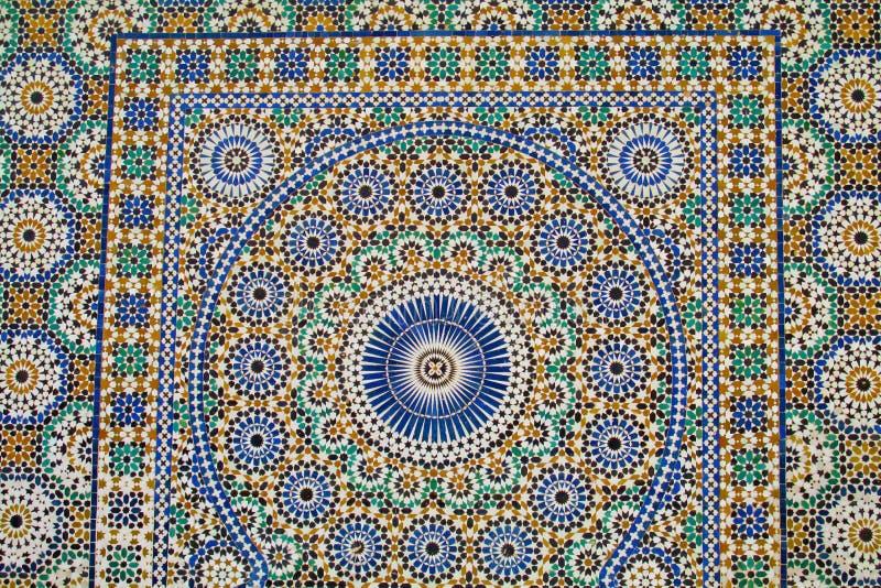 阿拉伯马赛克装饰 向量例证