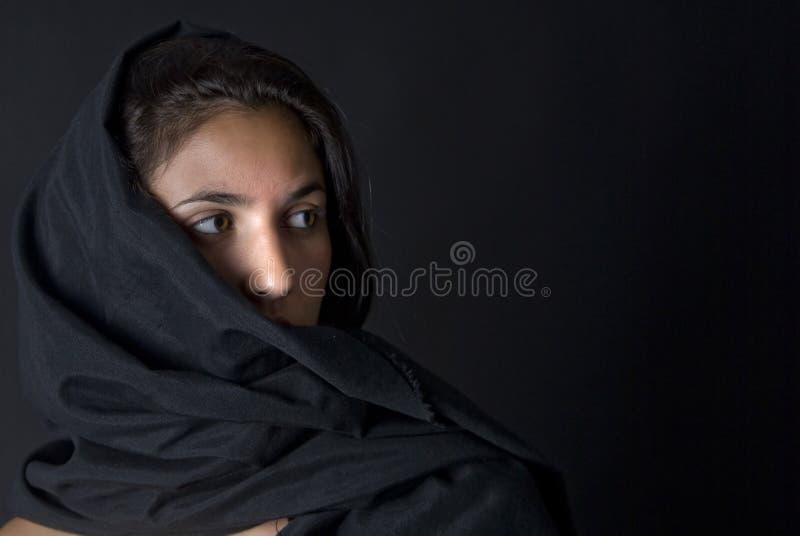阿拉伯黑人vell妇女 库存图片