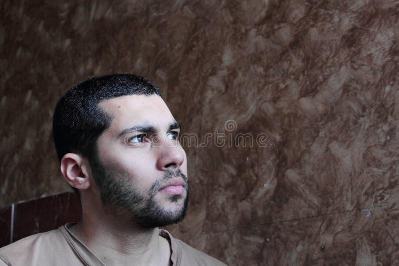 阿拉伯年轻埃及商人 免版税库存图片