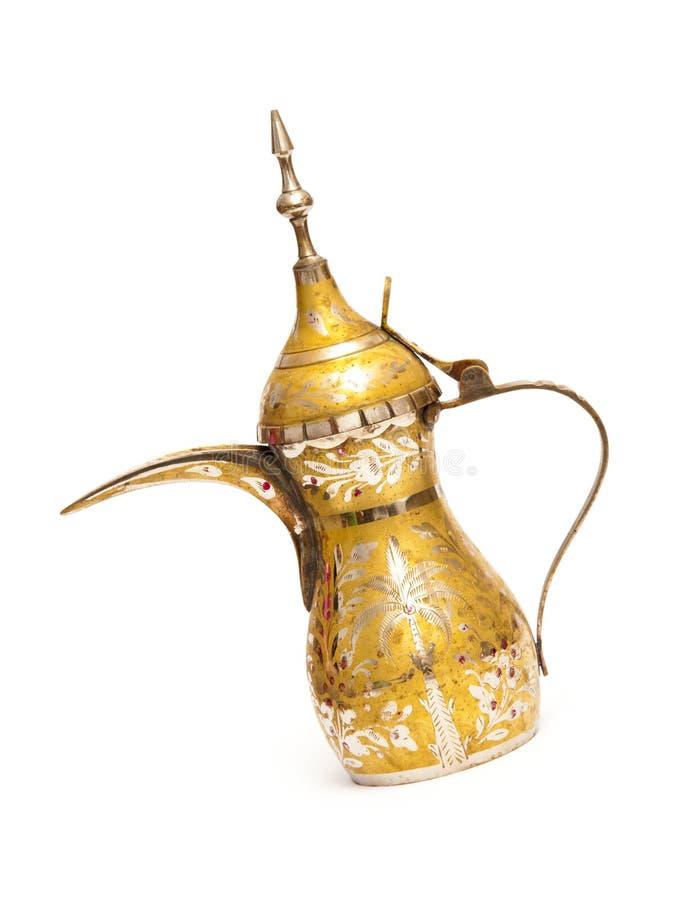 阿拉伯coffe罐qahwa 免版税库存图片