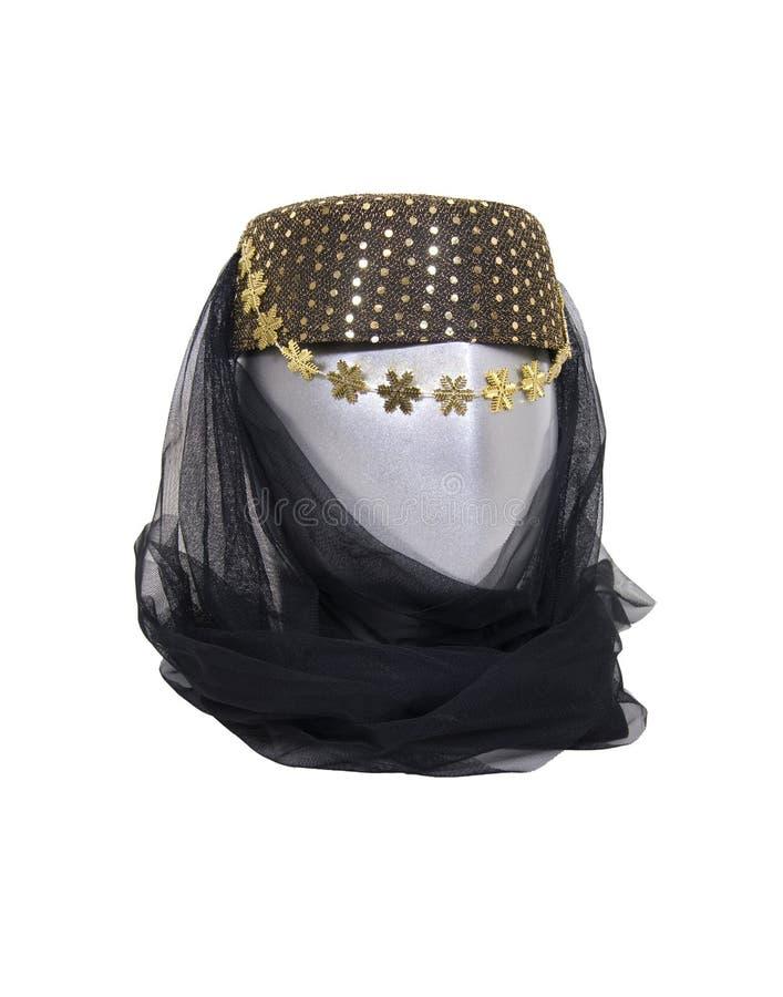 阿拉伯headwear晚上 图库摄影