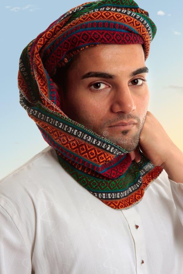 阿拉伯keffiyeh人传统头巾 库存图片