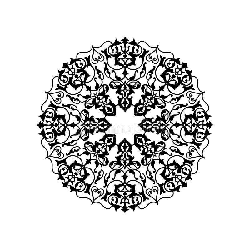 阿拉伯pattrern装饰品东方种族坛场的花 皇族释放例证