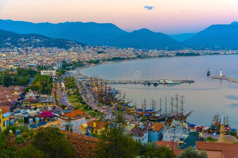 阿拉尼亚的市和口岸看法  图库摄影