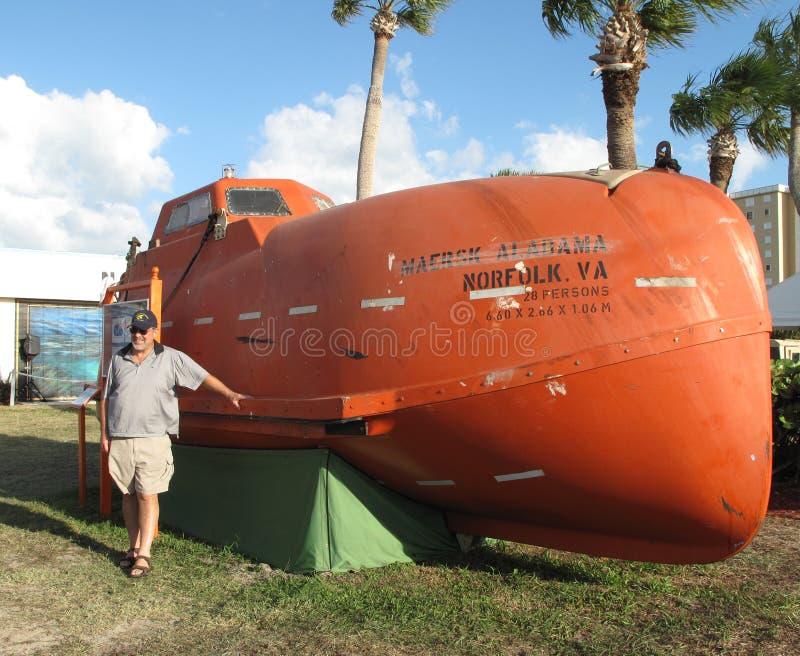 阿拉巴马上尉救生艇maersk philipps 免版税图库摄影