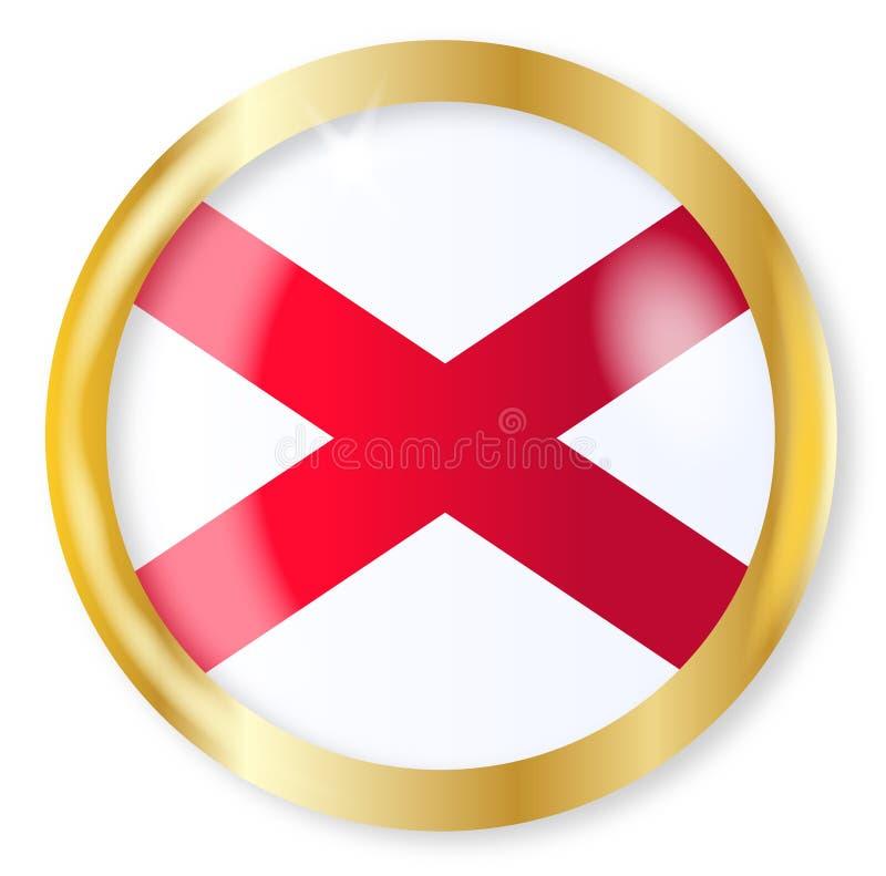阿拉巴马旗子按钮 库存例证