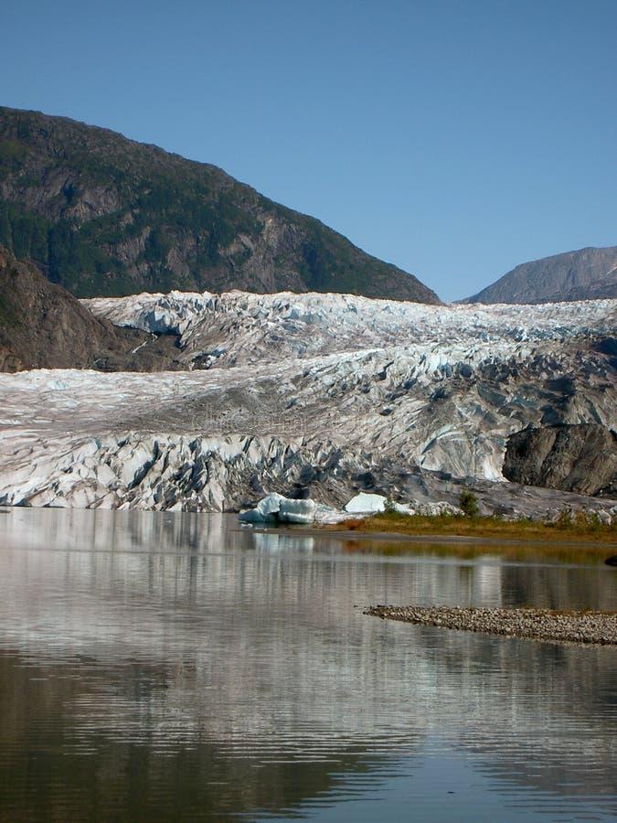 阿拉斯加冰川 库存照片