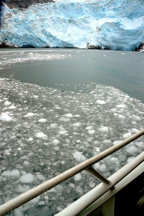 阿拉斯加冰川hubbard 图库摄影