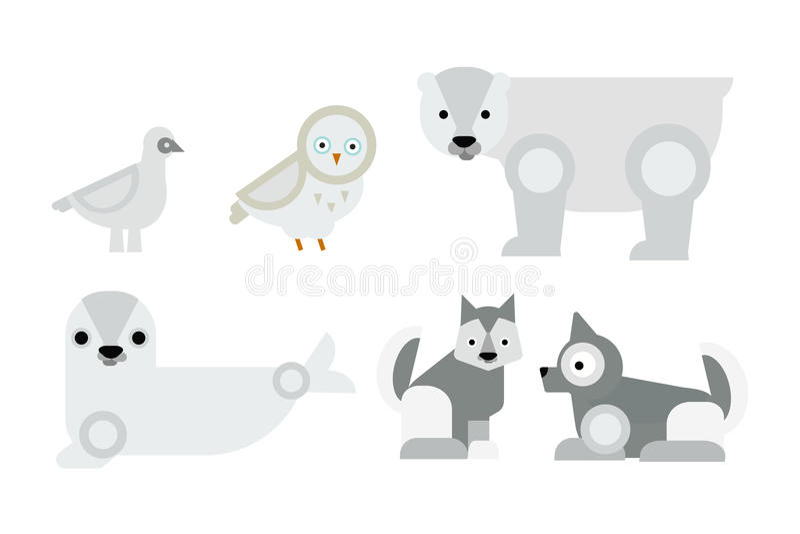阿拉斯加动物传染媒介例证 向量例证
