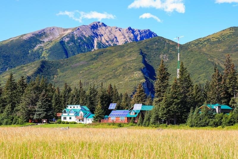 阿拉斯加原野Lodge湖克拉克国家公园 库存图片