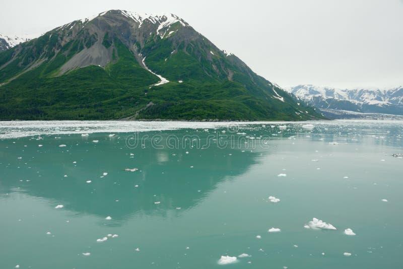 阿拉斯加处理的冰川hubbard seward 免版税图库摄影