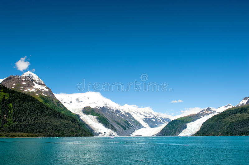 阿拉斯加威廉王子湾冰川视图 图库摄影