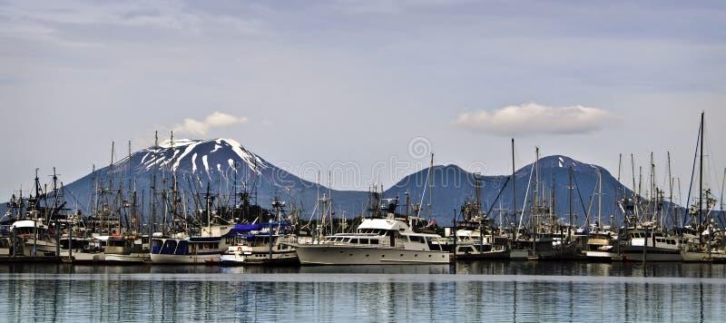 阿拉斯加小船港口sitka 库存图片