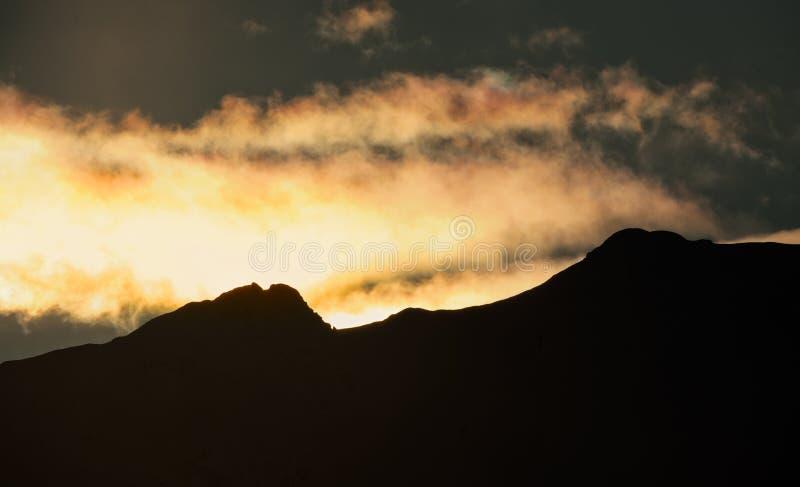 阿拉斯加山 免版税库存图片