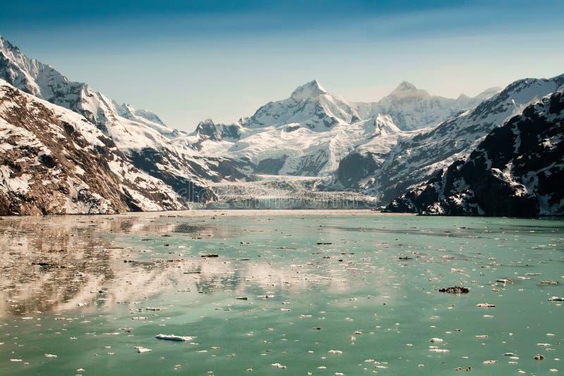 阿拉斯加海湾冰川国家公园 免版税库存图片