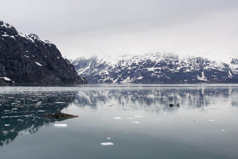 阿拉斯加海湾冰川玻璃 免版税库存图片